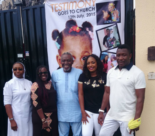 Nuella and Tchidi Chikere's Baby Dedication(Photos)