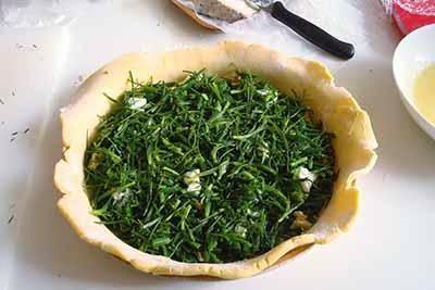 Torta salata agretti e gorgonzola 14