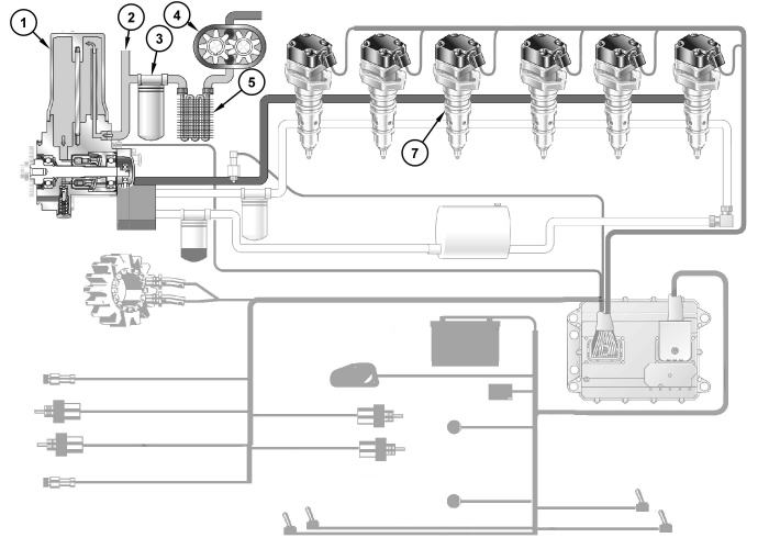cat c7 fuel system diagram
