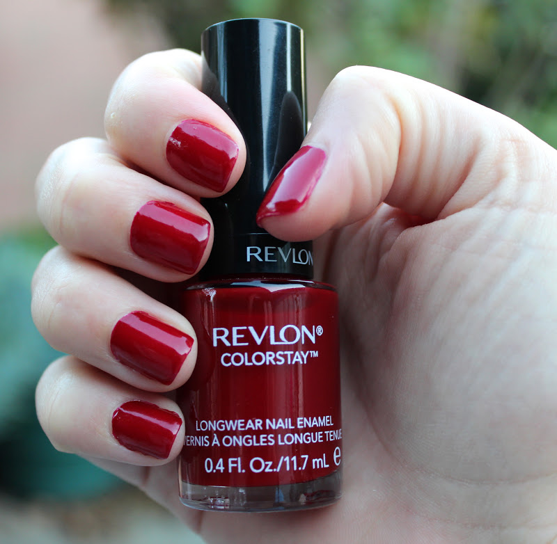 Viola Beauty: Nail of the Day: Revlon Colorstay Velvet Rope!