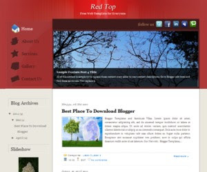 Red Top Blogger Template