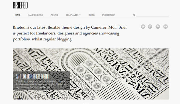 Briefed WordPress Theme Free Download by Woothemes.
