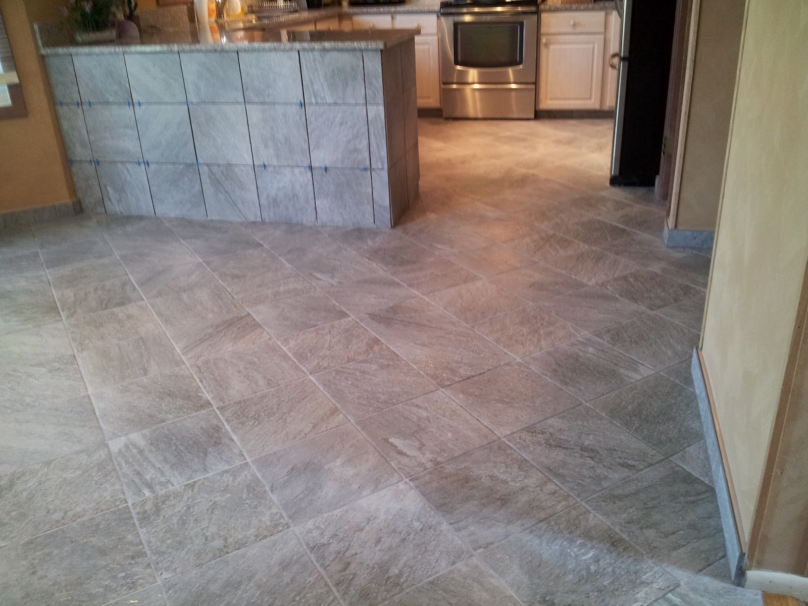 Floor installation photos slate looking porcelain tile in richboro pa Ceramic tile flooring installation