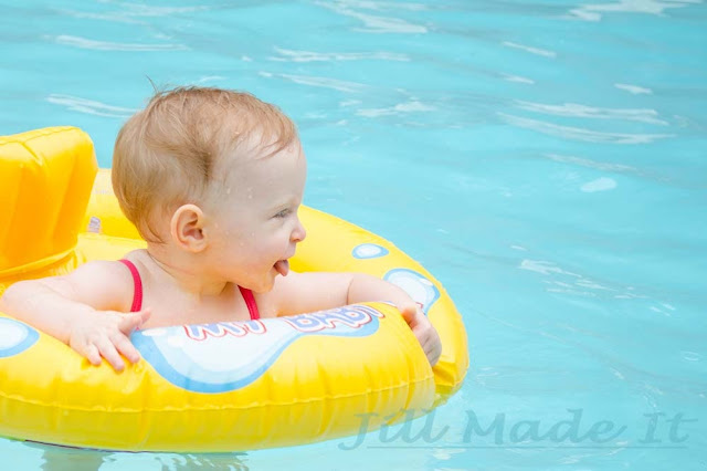 One Year Old Birthday Party:  I Love the Swimming Pool!
