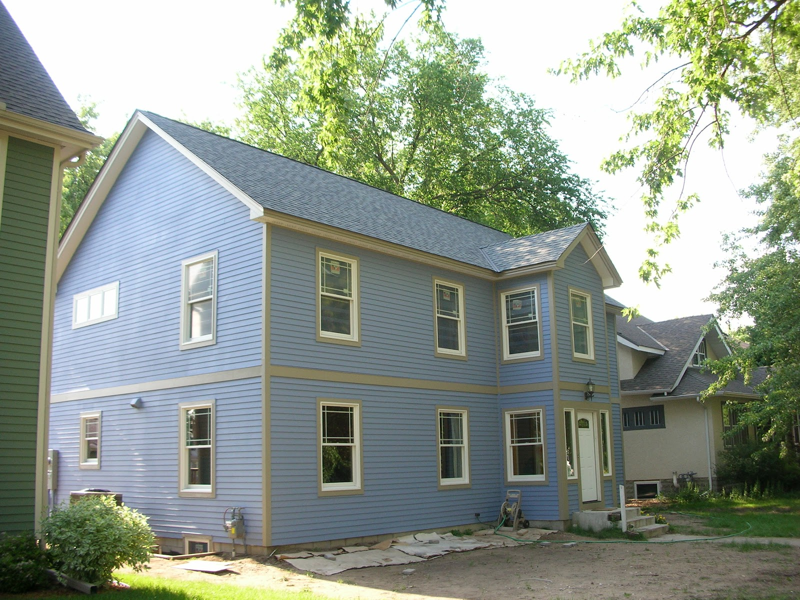 our big blue house the new house painted blue