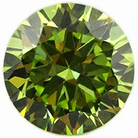 round apple green cz stones