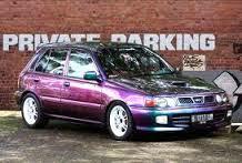 Mobil toyota starlet modifikasi warna ungu