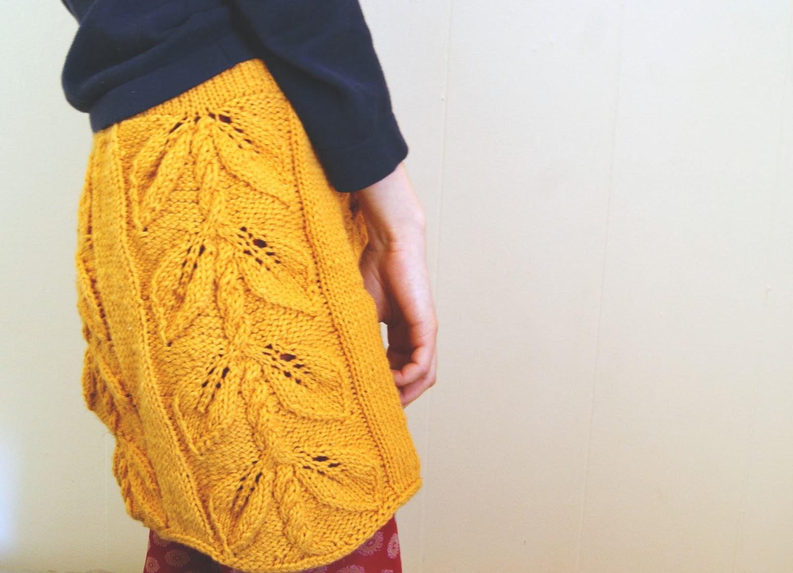 jupe tricotée haricot vue de côté