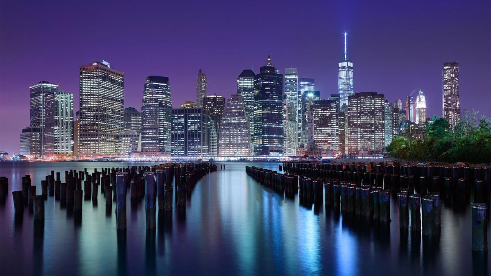 New York Night Wallpaper