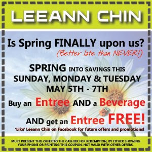 Leeaan Chin - Buy One Get One Free Coupon