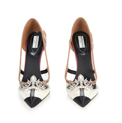 Balenciaga x-ray embellished plexi heel pumps