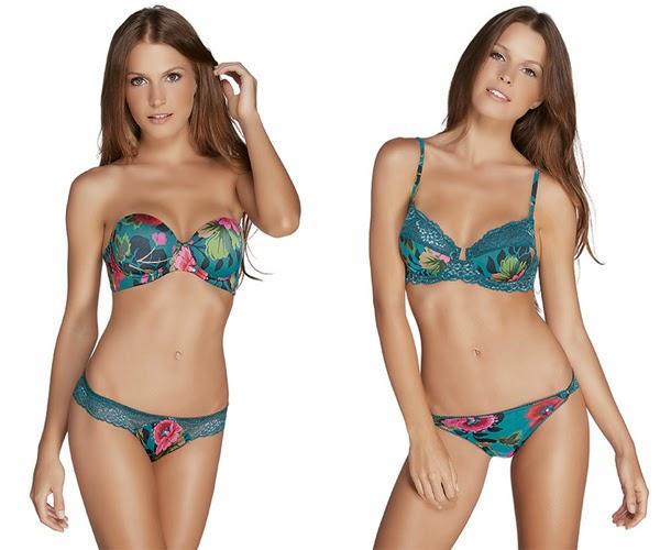 calcinha e sutiã com rendas Coleção de lingeries PatBO para Valisere