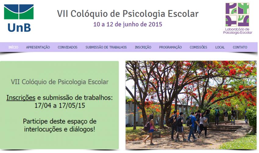 VII Colóquio de Psicologia Escolar