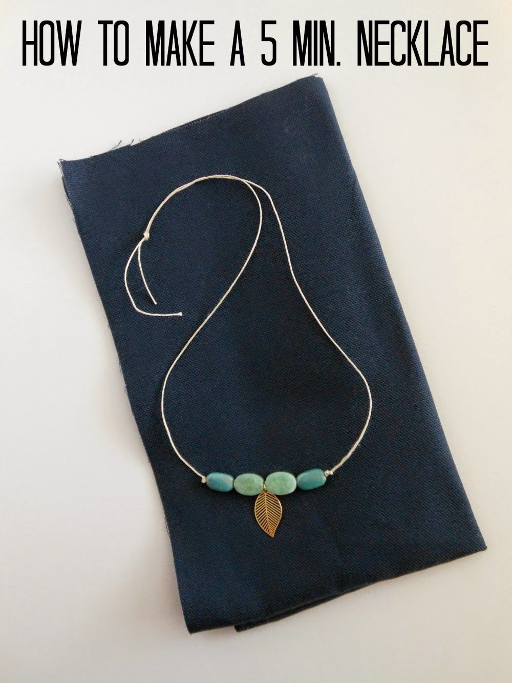 Easy twine necklace