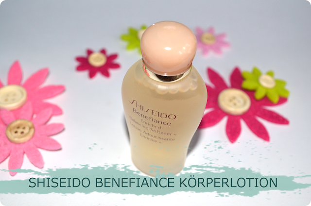 Douglas Box of Beauty im September SHISEIDO BENEFIANCE KÖRPERLOTION