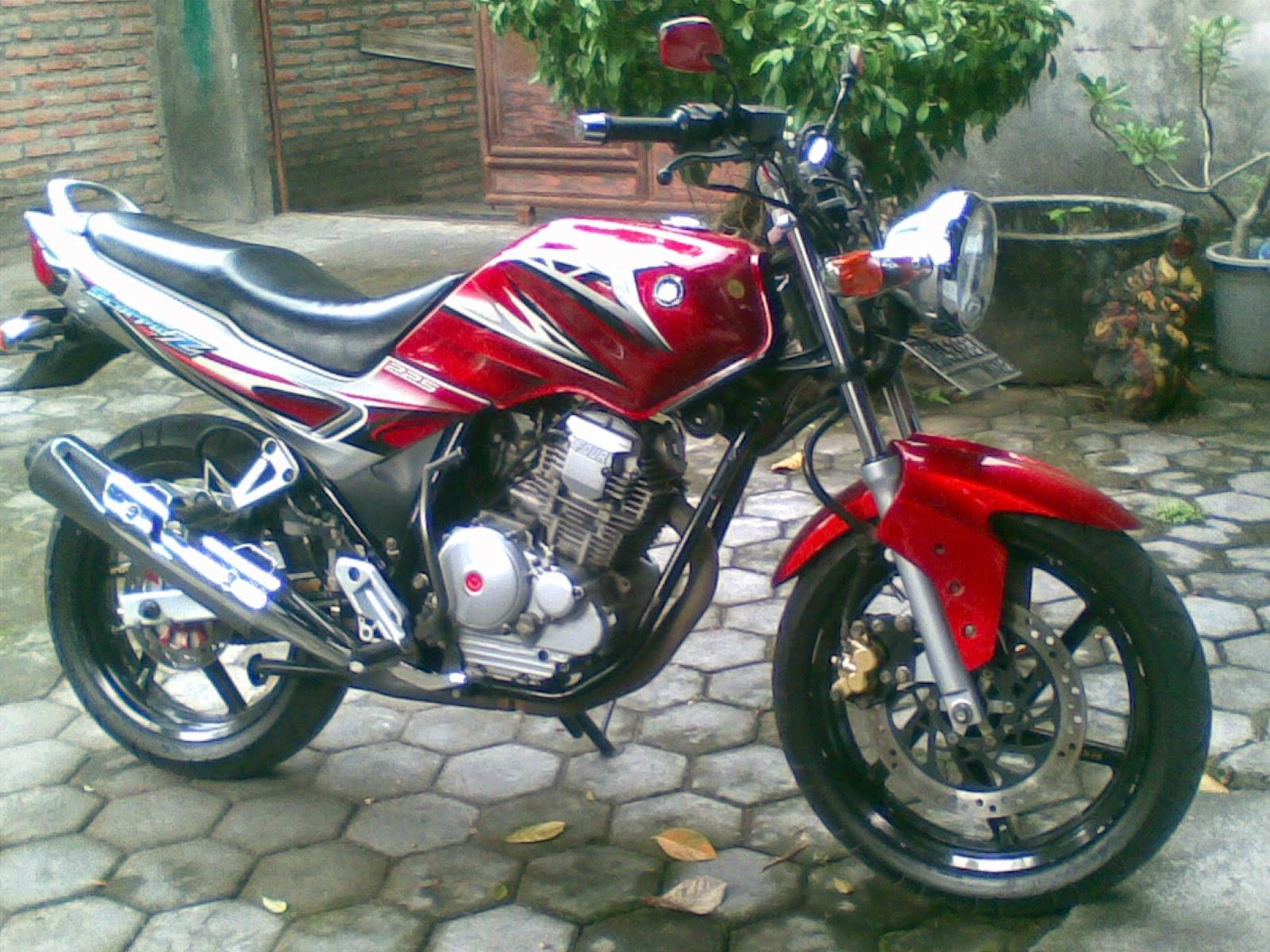 modifikasi motor yahama scorpio minimalis