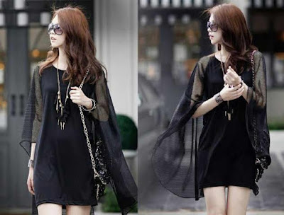 Dress 2 in 1 Mini Dress Black - 10449