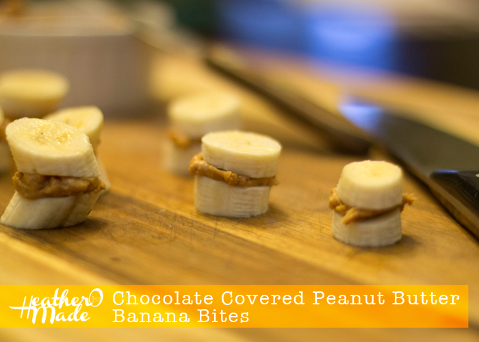 Chocolate Covered Peanut Butter Banana Bites. 3 ingredient dessert.