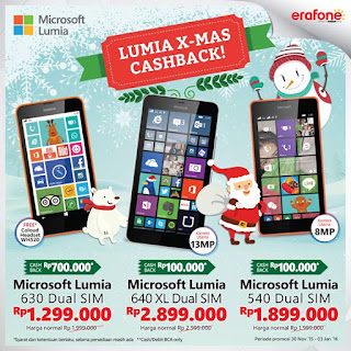Promo Lumia XMas Cashback di Erafone