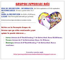Curso Pastoral 2015-2016. Grupos Juveniles Asís