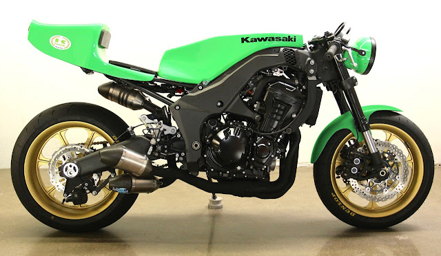 Modern Cafe Racer | 2012 Kawasaki Z1000 Cafe Racer | Custom Motorcycle | Lossa Engineering