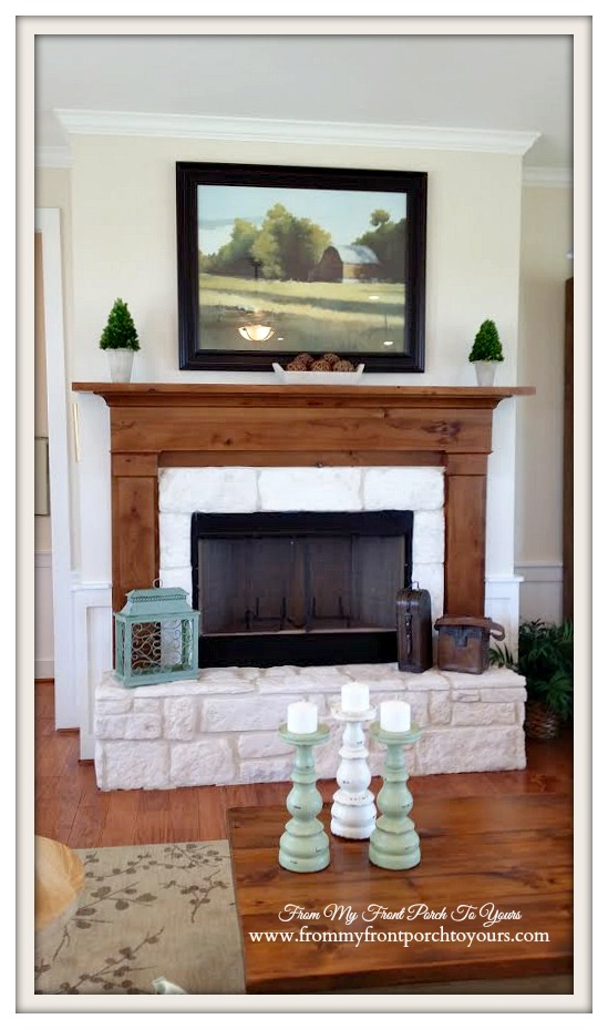 Fireplace-Farmhouse Model Home-Trendmaker Homes- From My Front Porch To Yours