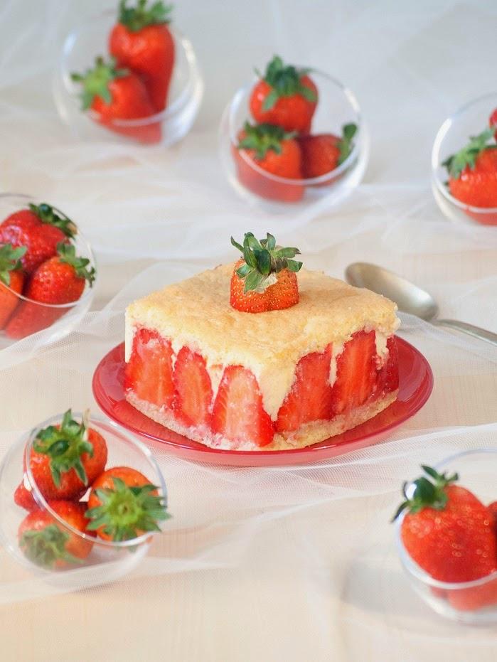 Fraisier, recette fraisier, fraisier crème mousseline, fraisier facile, fraisier léger, fraisier de chef