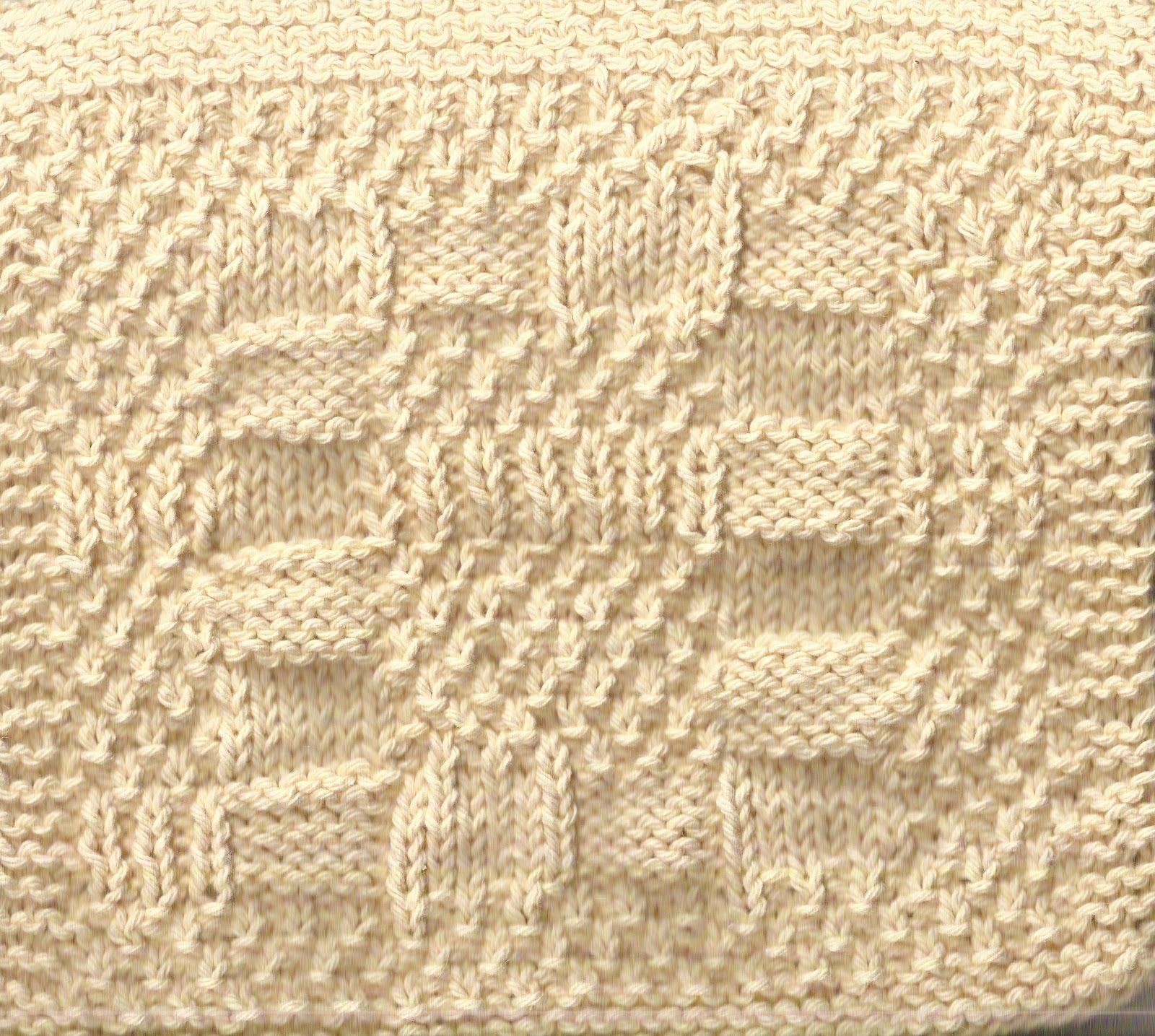 Luvsknitting: A Really Reversible Dishcloth