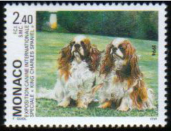 1994年モナコ公国 キング・チャールズ・スパニエルの切手