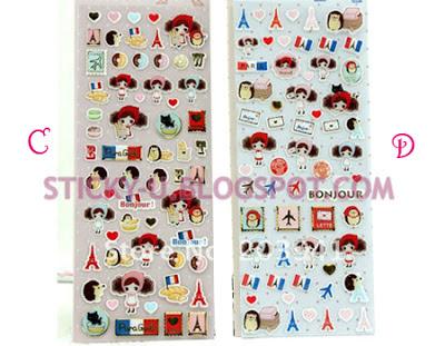 035: Paris Voyage Girl Sticker