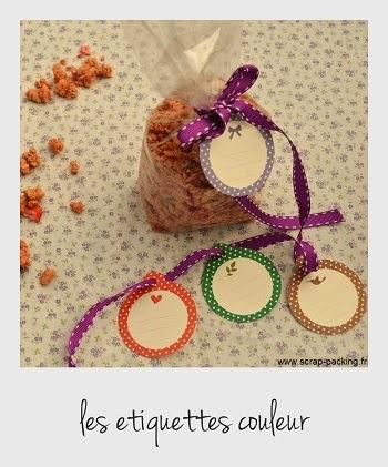 Etiquettes rondes couleur
