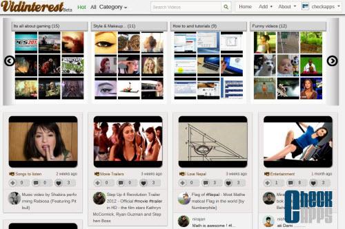 Vidinterest,Pinterest,curación,vídeos,organizar vídeos,curación de contenidos
