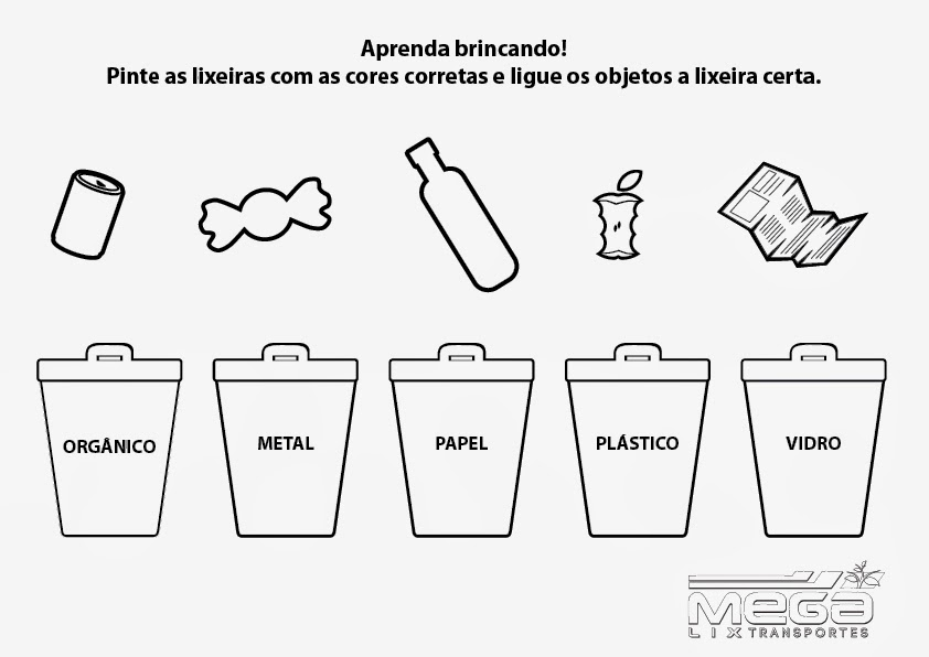 Educar X Desenho Para Colorir Reciclagem
