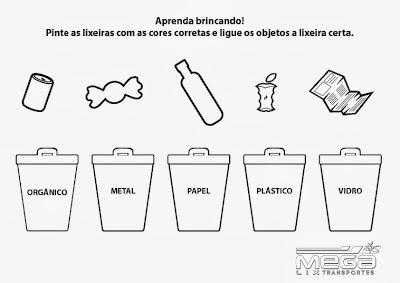 dicas e fazer passo a passo desenho para colorir reciclagem