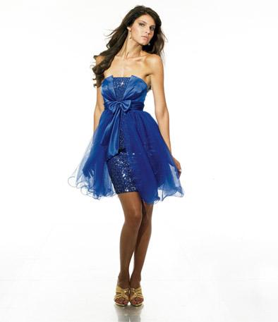 Cocktail Dress on Blue Empire Waist Sequins Cocktail Dress Jpg