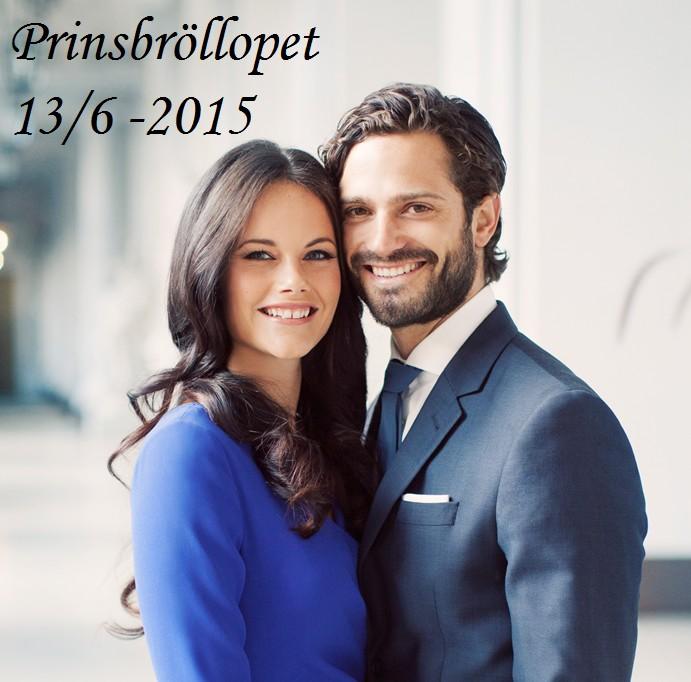 Prins Carl Philip och Sofia- bröllop 13 juni