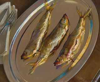 Pintura moderna y fotograf a art stica cuadros al oleo for Cuadros con peces