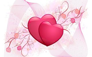 Liefde achtergrond met hartjes en bloemen
