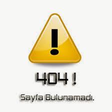 404 Hata Sayfası Oluşturmak