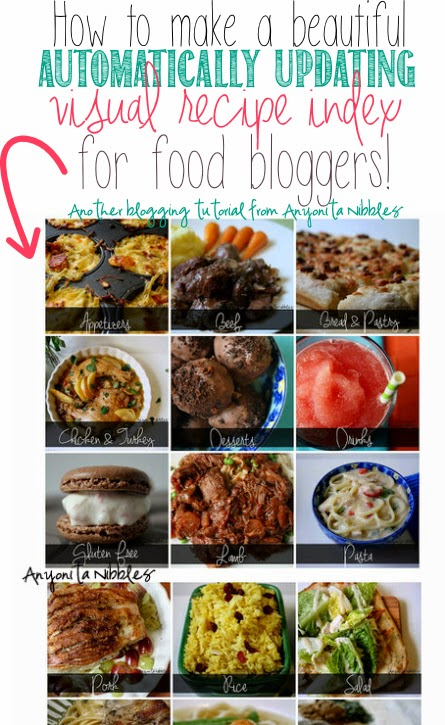 Easy tutorial for making a beautiful visual recipe index that updates automatically! Every food blogger needs this!