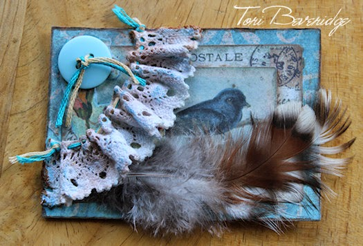Shabby Wren ATC by Tori Beveridge 2014