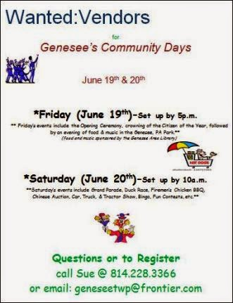 6-19/20 Vendors Wanted Genesee