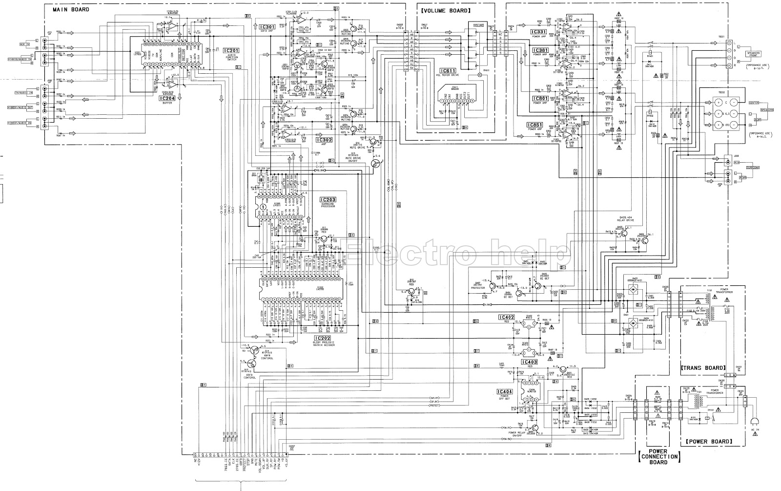sony ta ve110 stereo av amplifier schematic electro help circuit diagram