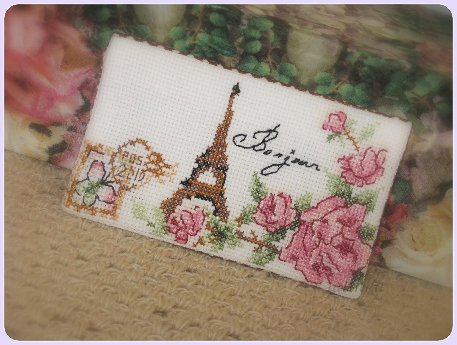 вышивка  Париж вышивка крестом