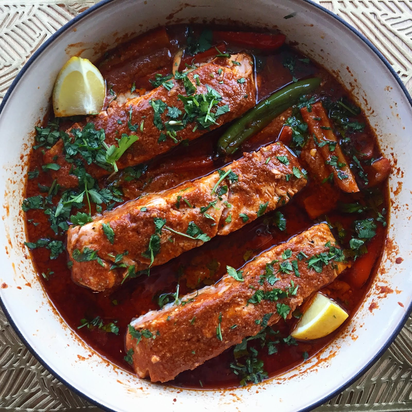 My Family's Salmon Chriameh Recipe