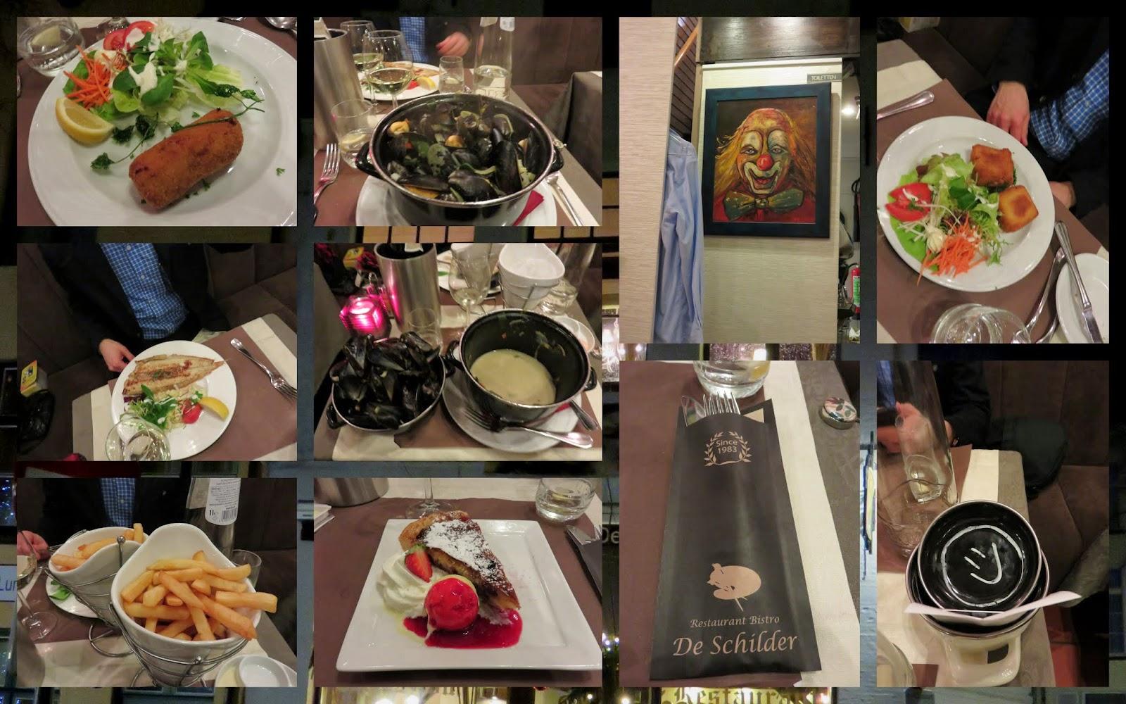 Dinner at Bistro de Schilder in Bruges, Belgium