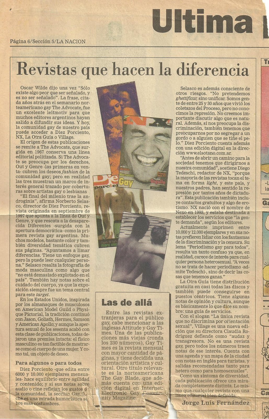Otros textos publicados colaboracion en periodicos y revistas for Revistas del espectaculo argentino