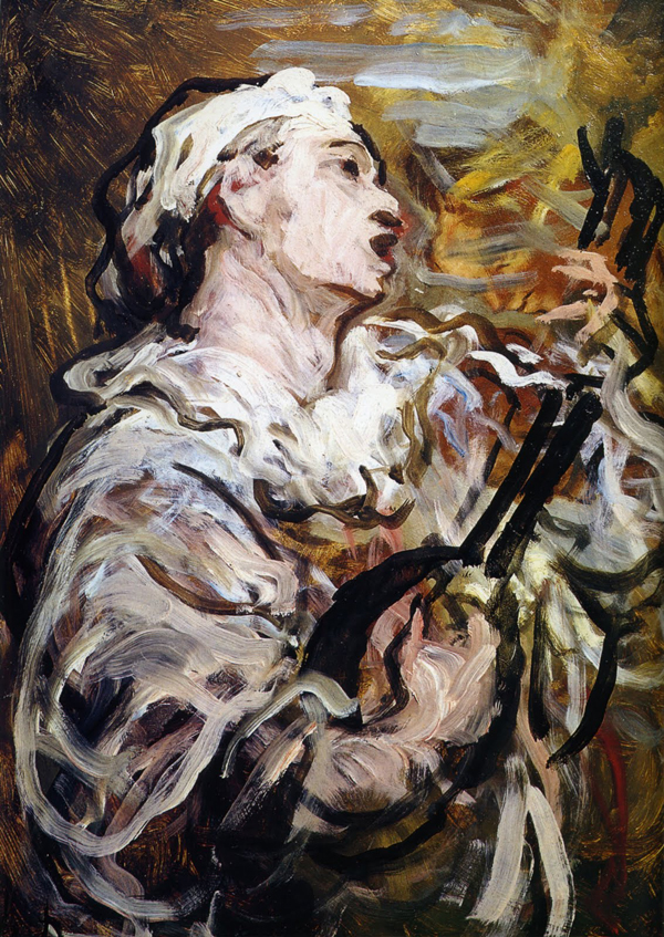 imagen Pierrot cantando Daumier