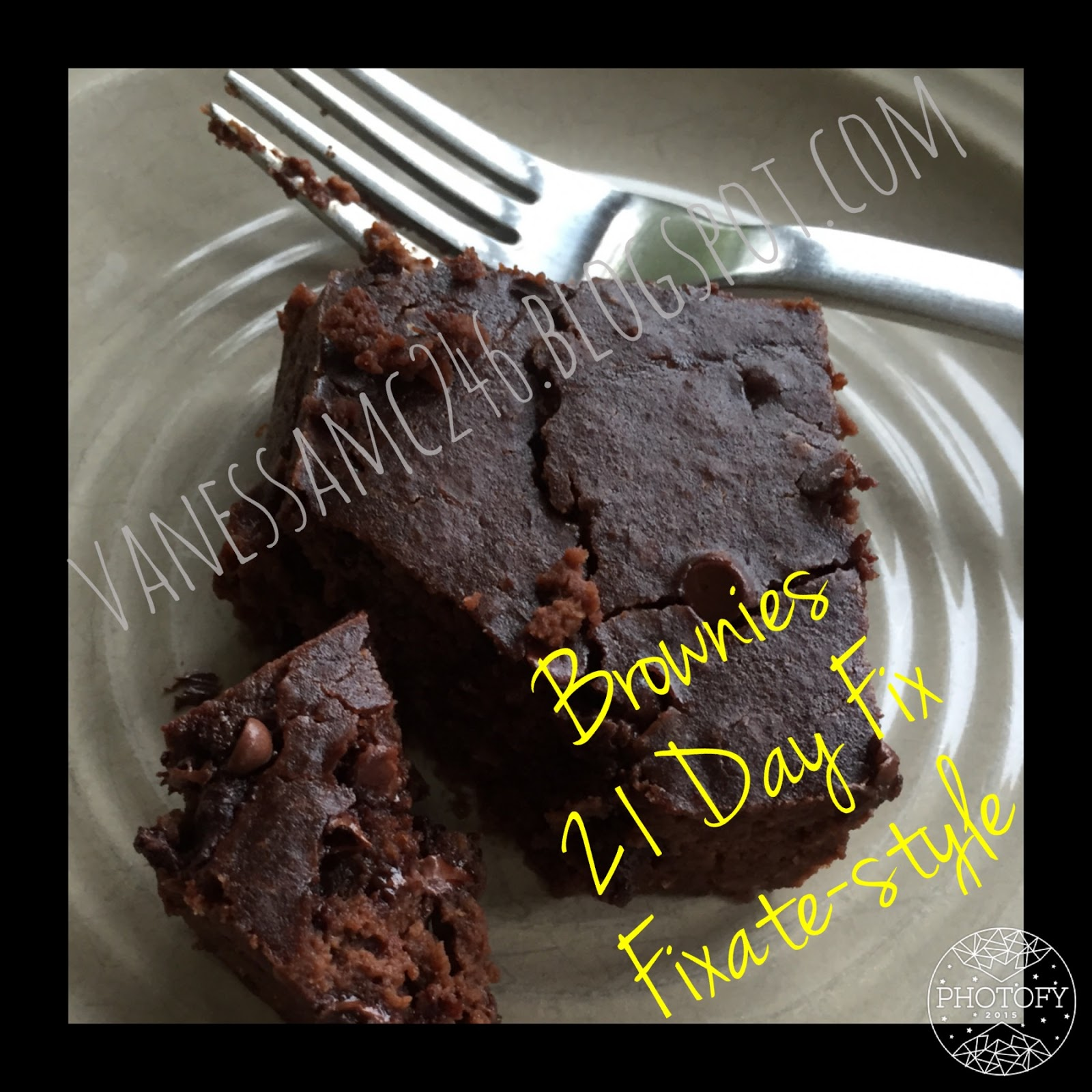 Flourless Chocolate Chickpea Brownies Fixate Style Vanessatness