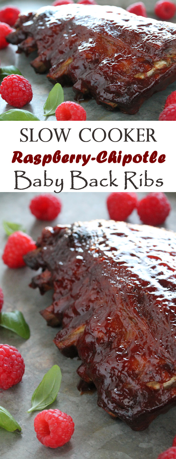 Slow Cooker Raspberry-Chipotle Baby Back Ribs